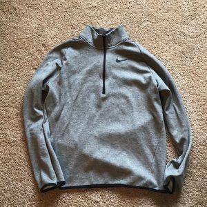 Grey Nike 1/4 Zip Pullover M